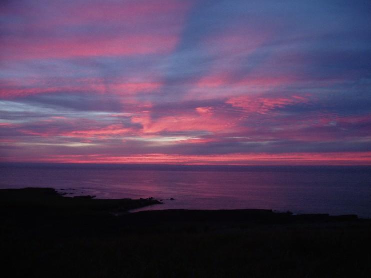 pink montana sunset